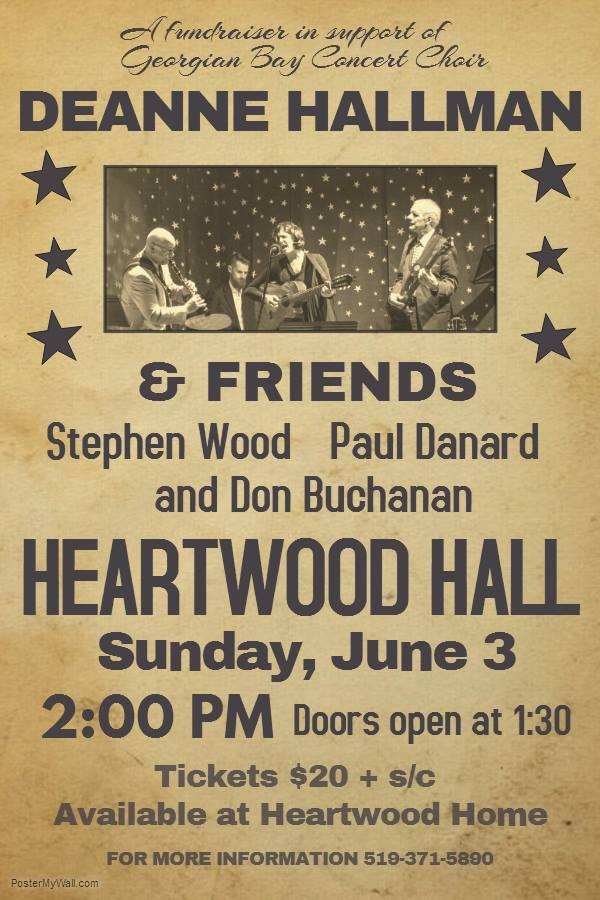 Deanne Hallman performance fundraiser poster